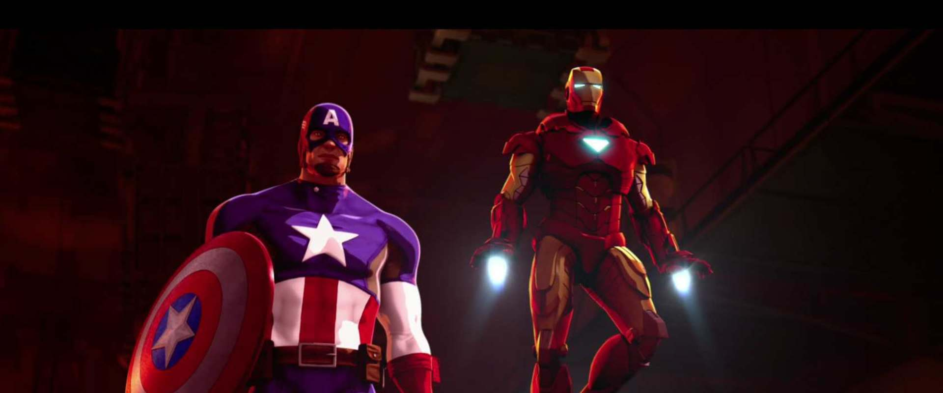 Iron Man and Captain America: Heroes United background 1