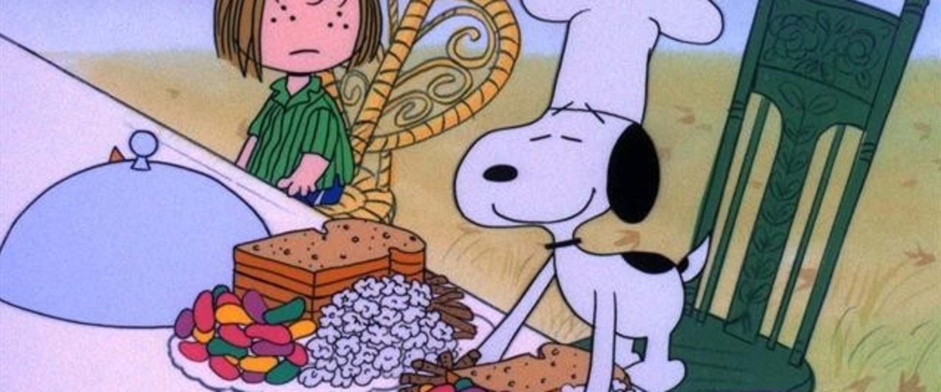 A Charlie Brown Thanksgiving background 1